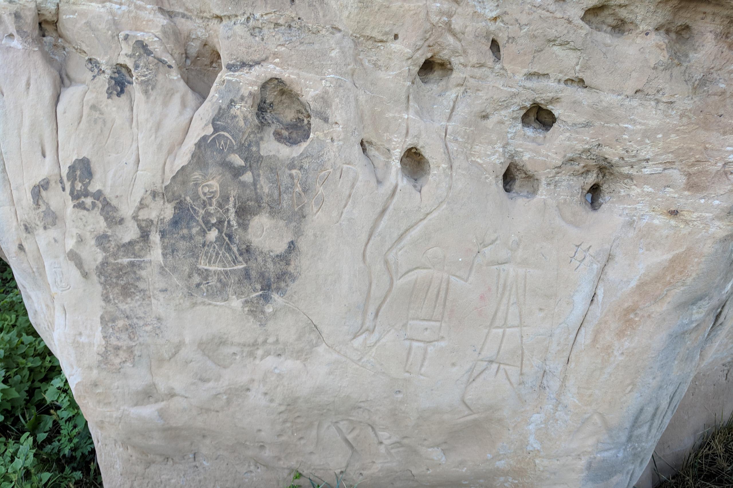 Native American Petroglyphs at Hoot Owl Guest Ranch